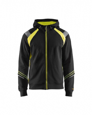 Blaklader 3433 Hoodie Full Zip (Black/Yellow)